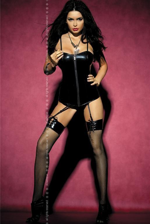 Punčochy Aggressive stocking - Obsessive Barva: černá, Velikost: S/M