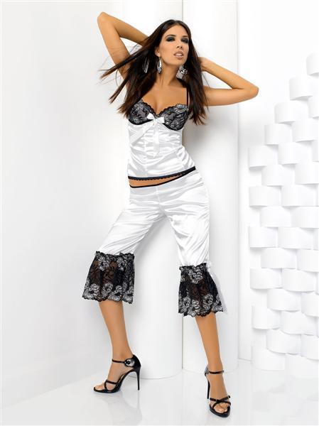 Natalia set-Anais ,barva bilá ,M ,luxusní set Barva: bílo/černá, Velikost: XL