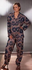 Saténové pyžamo 011201 Mary - Sophia barva: modrohnědá, velikost: L