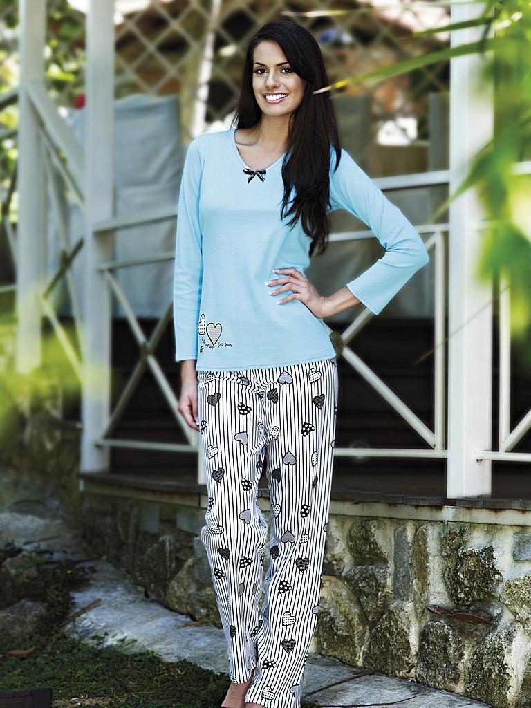 Dámské pyžamo 8320 - Vamp barva: šedá, velikost: XXL