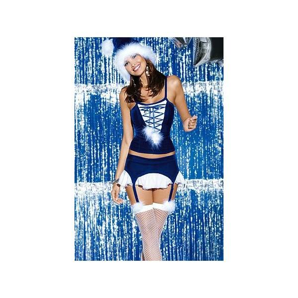Vánoční kostým Snowflake corset - Obsessive Velikost: S/M
