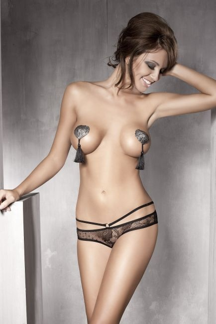 Kalhotky Anais PERMISSION open panty barva: černá, velikost: L