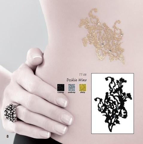 Samolepící tetování TT-08 Barva: stříbrná, Velikost: uni