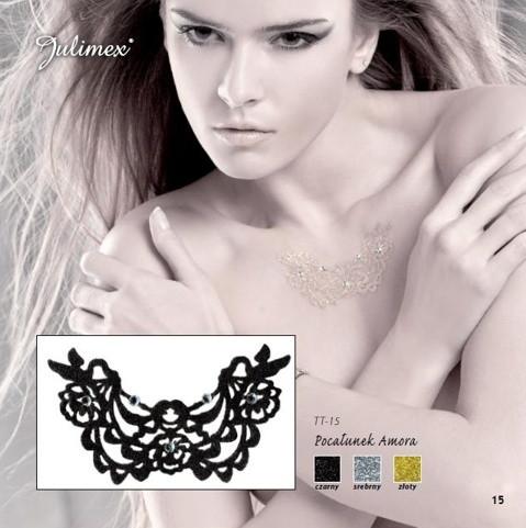 Samolepící tetování TT-15 Barva: zlatá, Velikost: uni