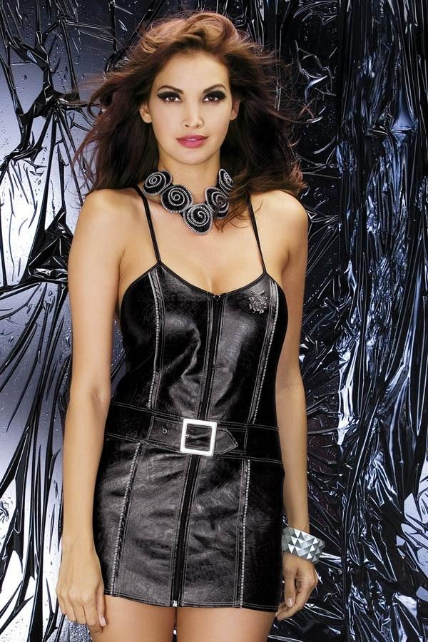 Sexy kostým Biker dress - Obsessive Barva: černá, Velikost: S/M