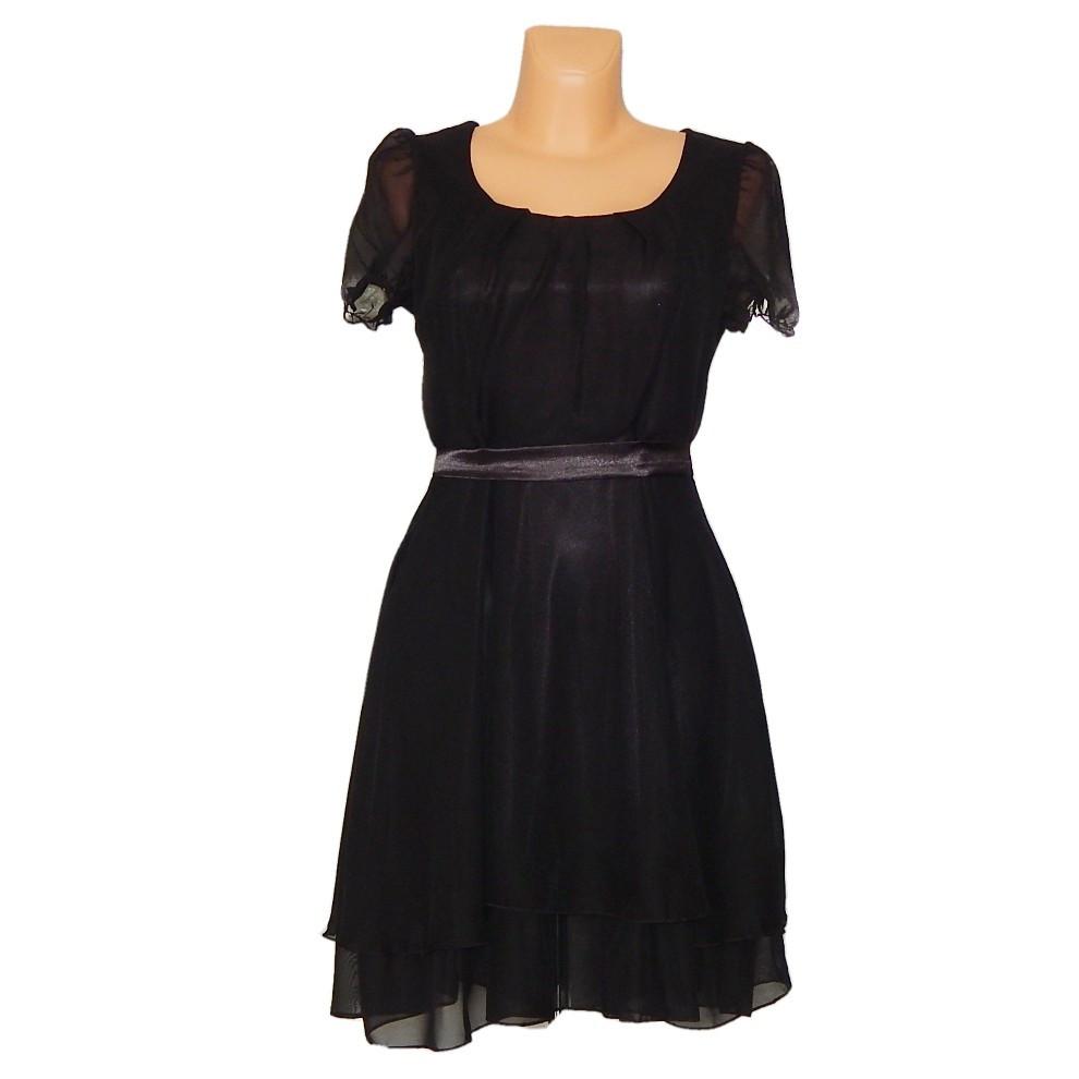 PROM Dámské párty a plesové šaty středně dlouhé černá M