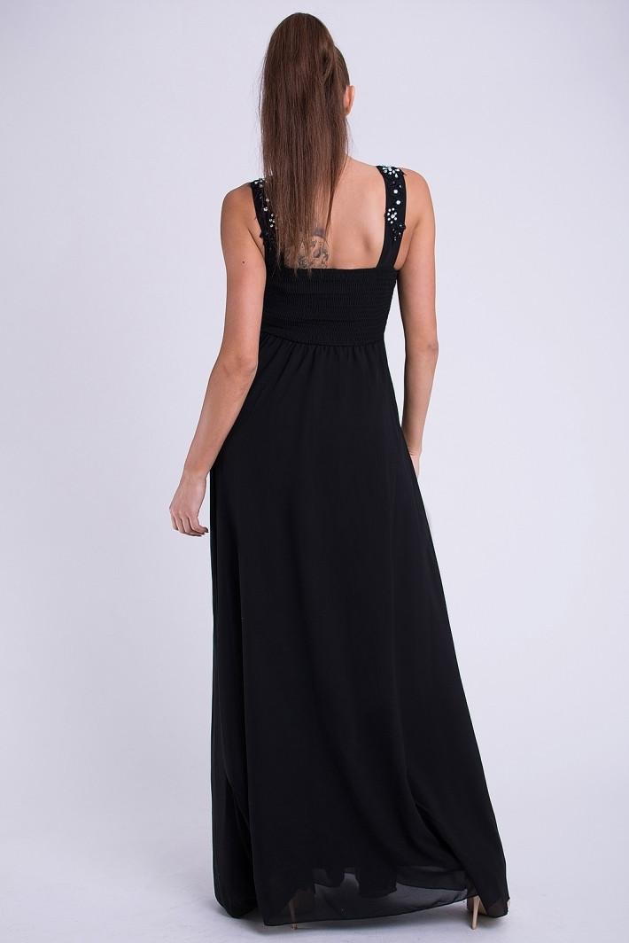Dámské plesové dlouhé šaty EVA LOLA černá M