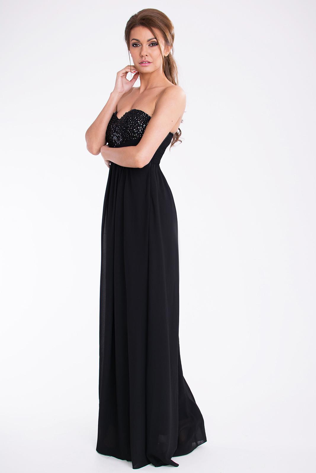 Dámské dlouhé společenské plesové šaty BOOM černá M