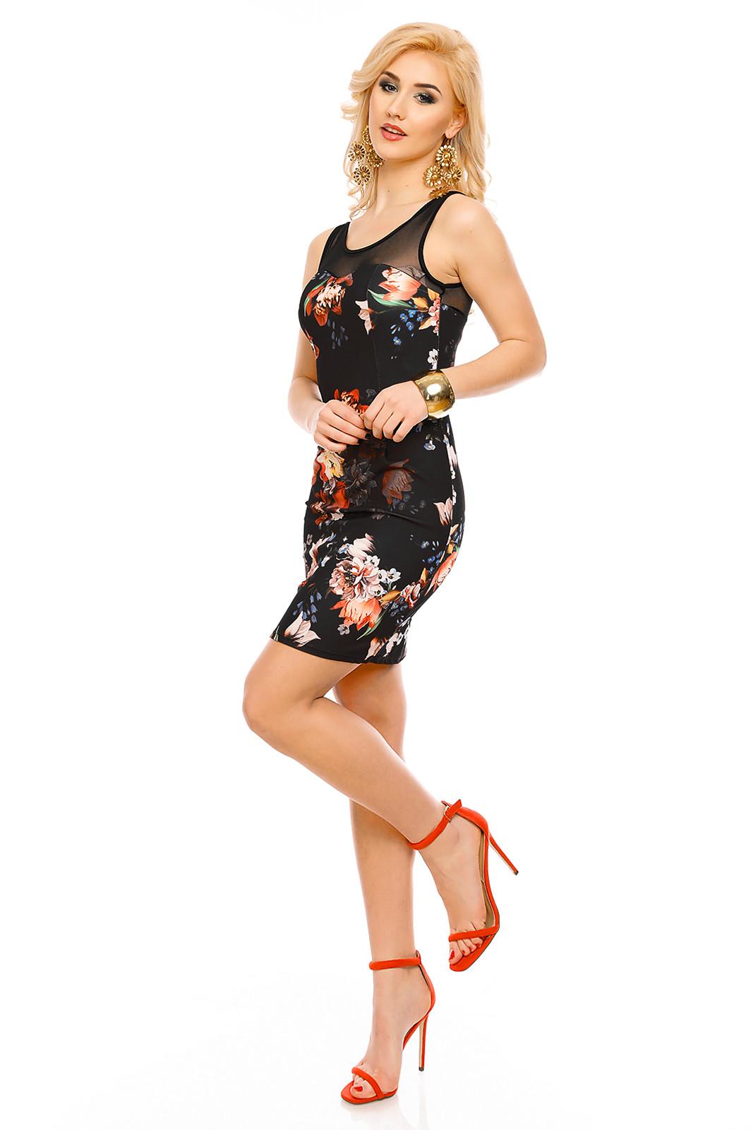 Společenské a párty šaty HS-2465_black - Černé uni
