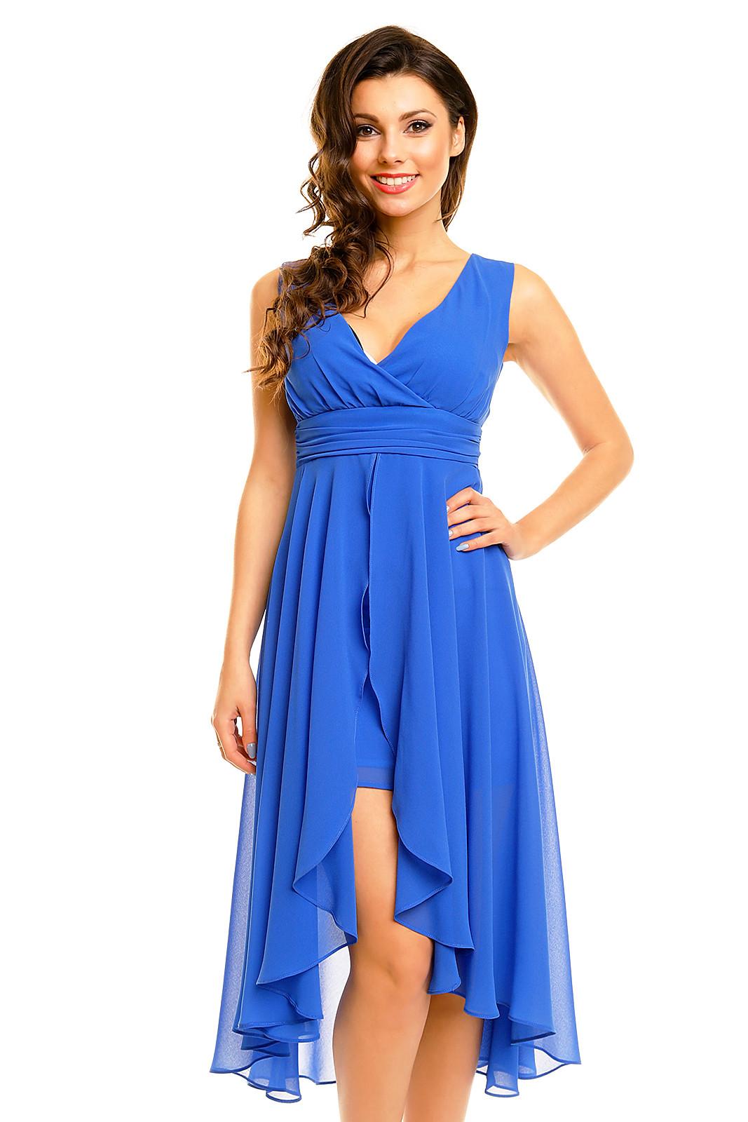 Dámské společenské šaty MAYAADI HS-256-BL - Modré S