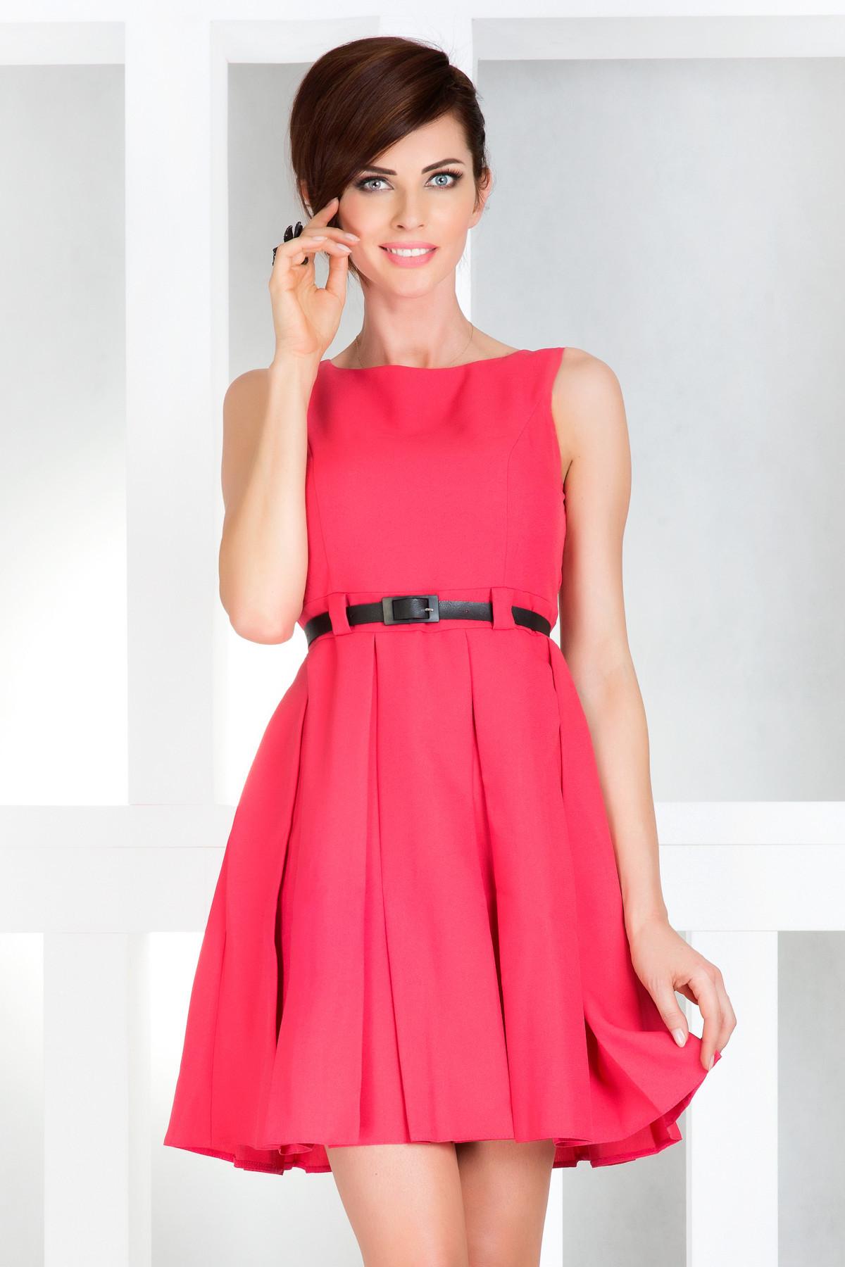 Dámské společenské šaty NUMOCO s páskem středně dlouhé růžová XL