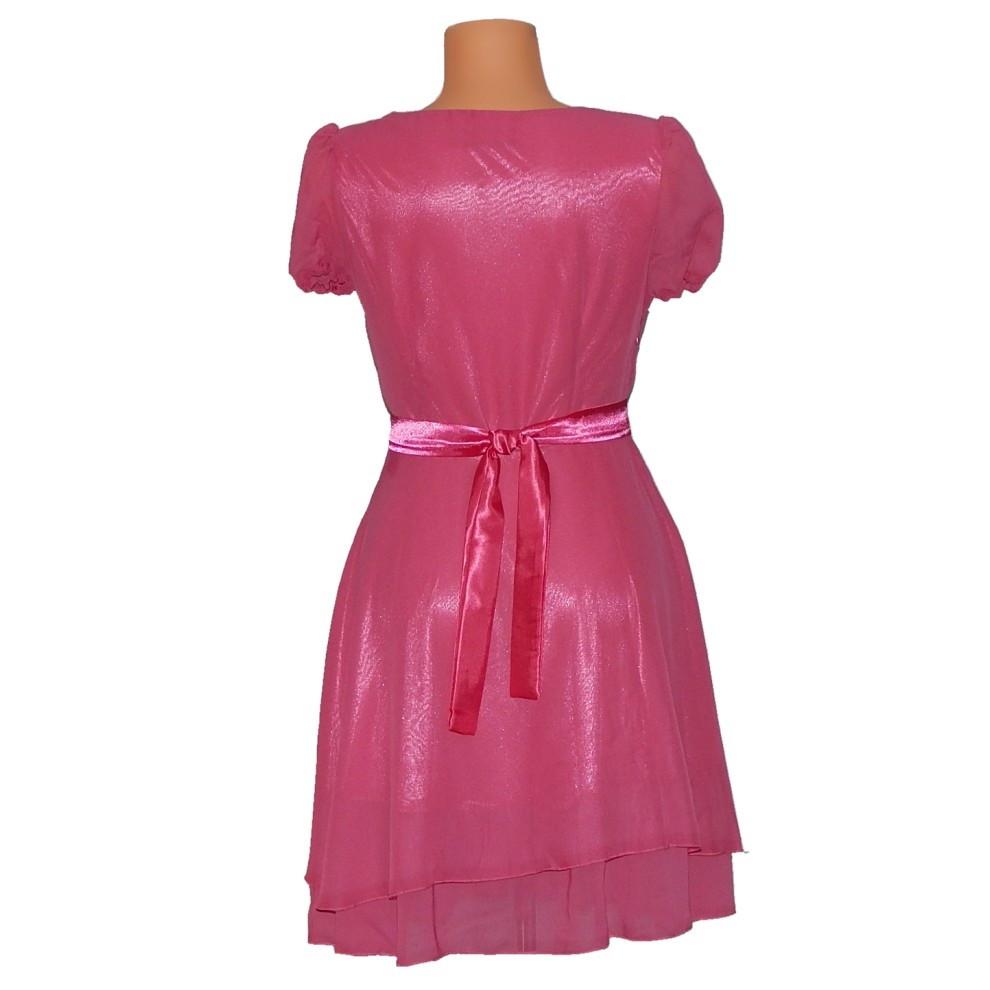 PROM Dámské párty a plesové šaty středně dlouhé růžová S