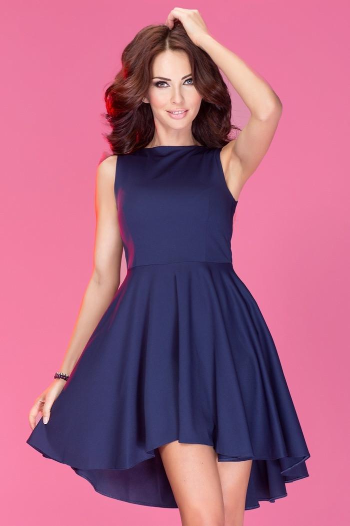 Dámské šaty ASYMETRIC Lacoste tmavě modrá M