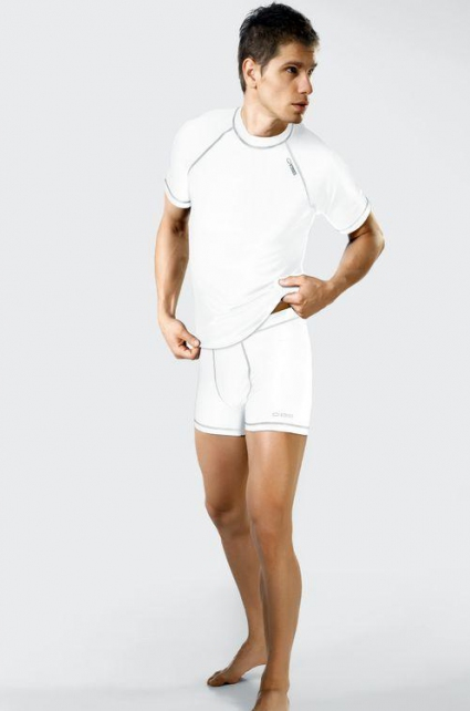 Sportovní pánské šortky Classic VI Silver - Gwinner Barva: bílá, Velikost: XXL