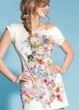 Dámské triko ELC4338 - Lise Charmel Barva: květinový print, Velikost: 38