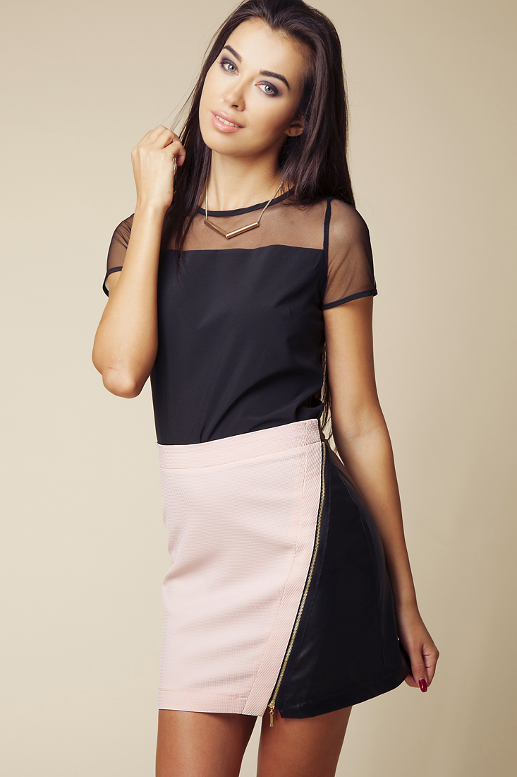 Dámská sukně 603 černá/růžová - Ambigante Barva: černo-růžová, Velikost: S