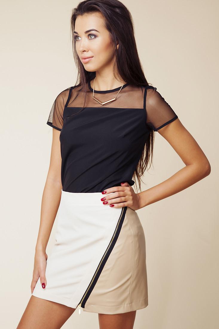 Dámská sukně 604 béžová - Ambigante Barva: béžová, Velikost: XS