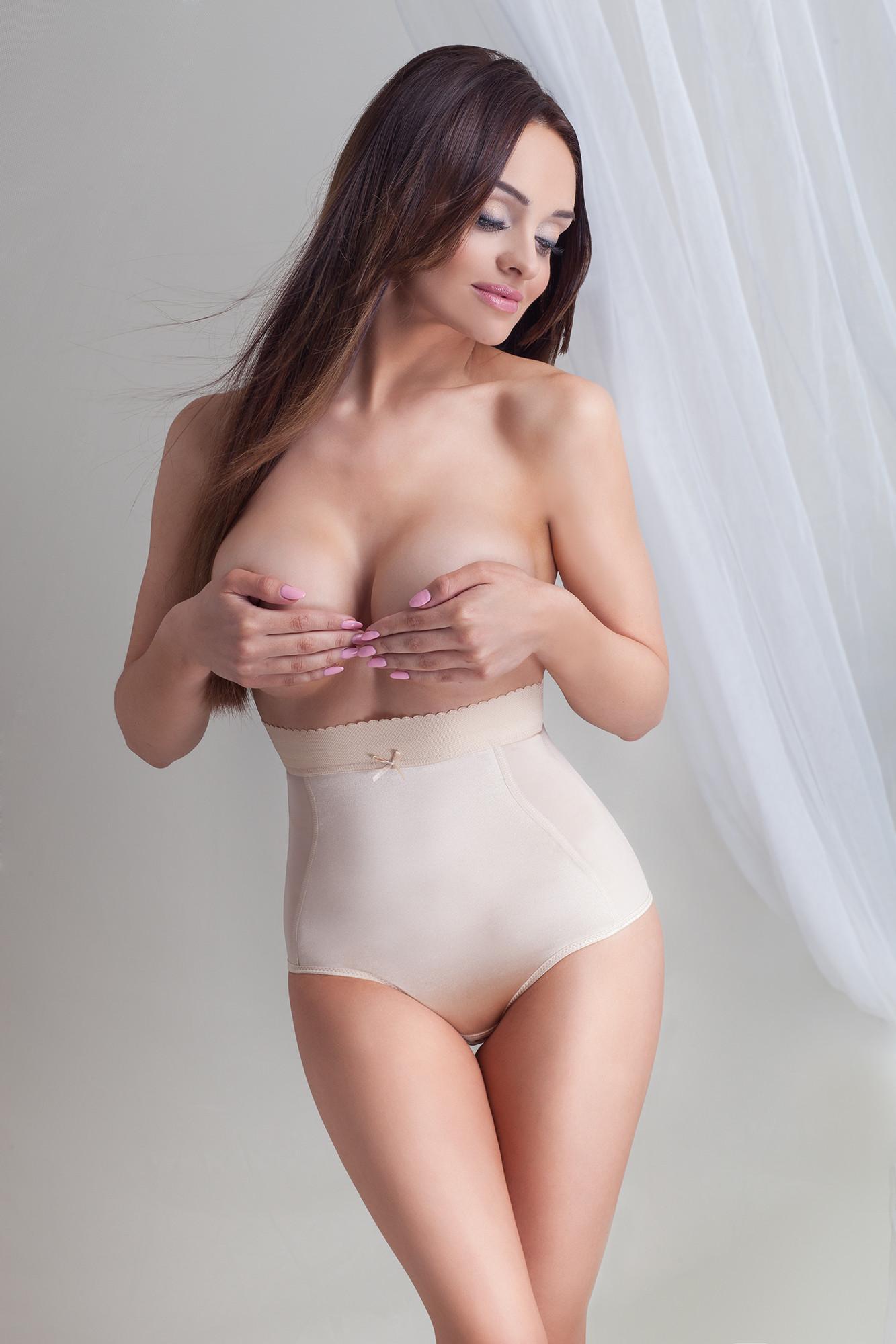Stahovací kalhotky Day&Night Satin - Mitex Barva: bílá, Velikost: XL