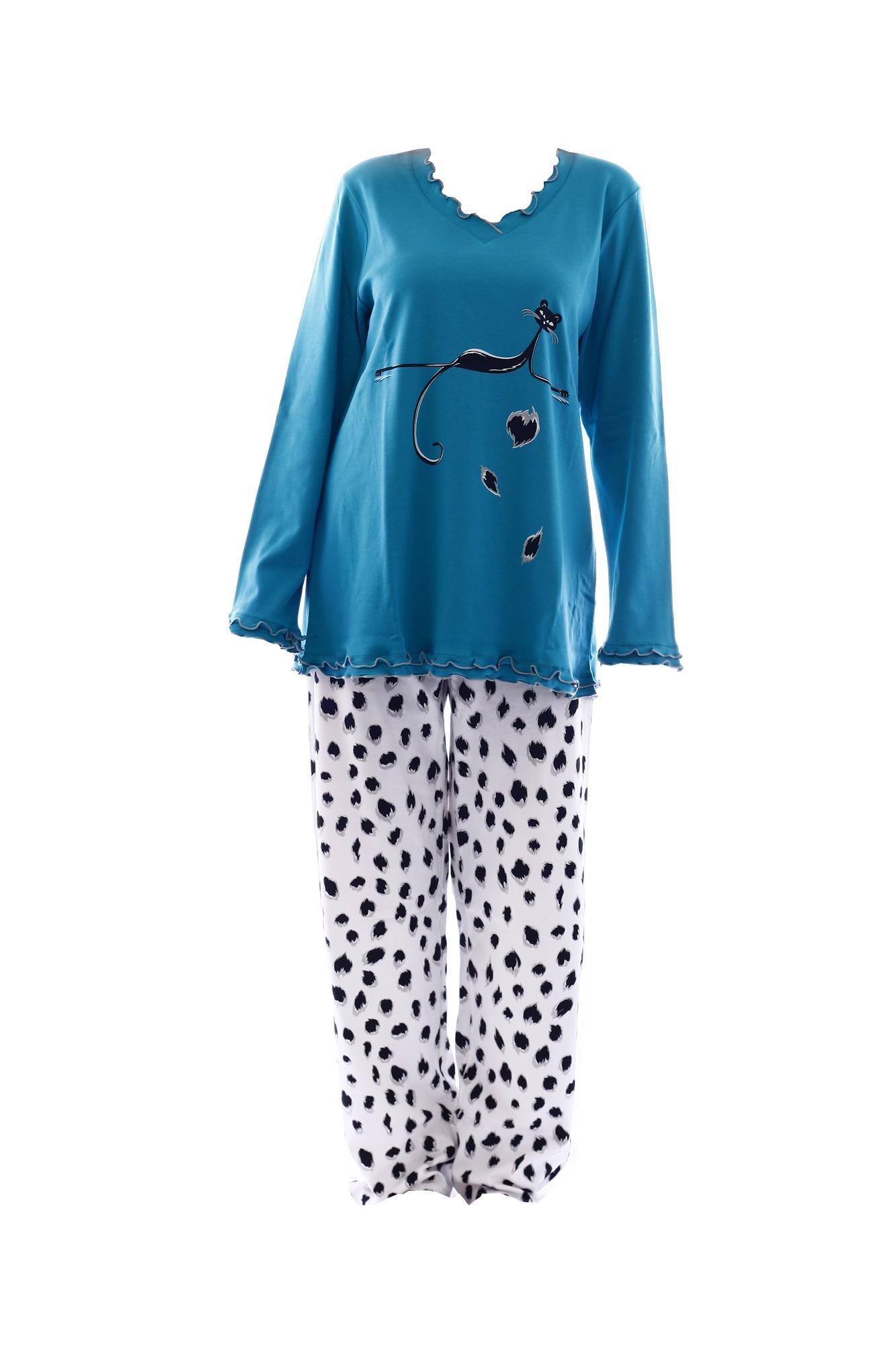 Dámské pyžamo 3833 - Vamp Barva: krémová, Velikost: 44