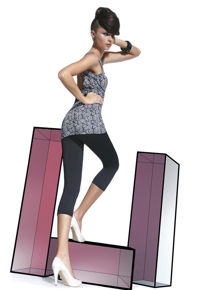 Legíny Nina - Bas Bleu Barva: černá, Velikost: S
