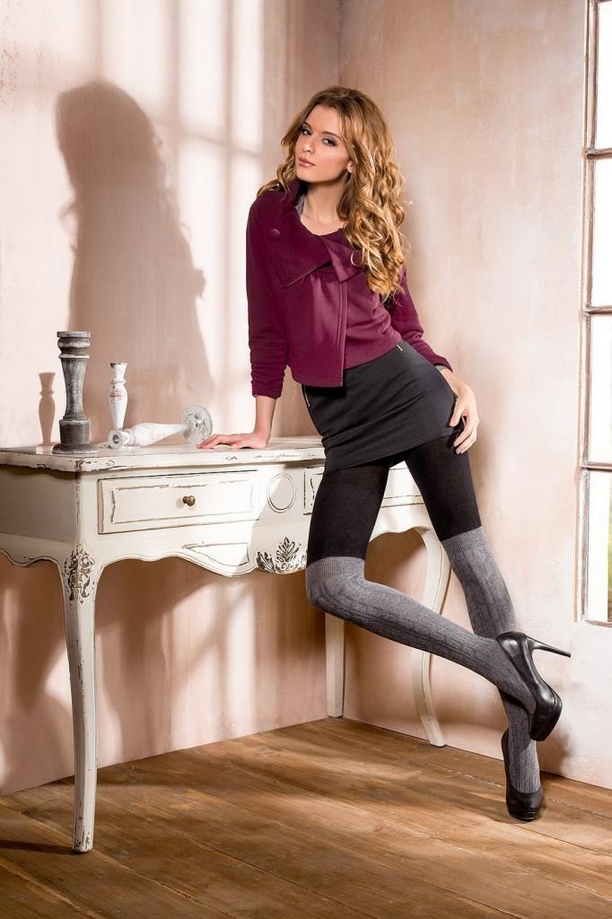 Punčochové kalhoty Nerina 03 - Mona Barva: černo-šedá, Velikost: 3-M