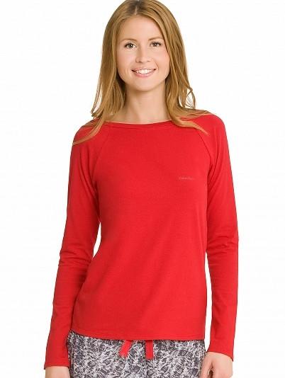 Dámské tričko S1658E - Calvin Klein Barva: červená, Velikost: L