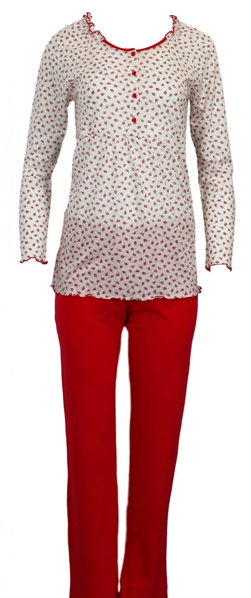 Dámské pyžamo 3537 - Vamp Barva: červená, Velikost: 38