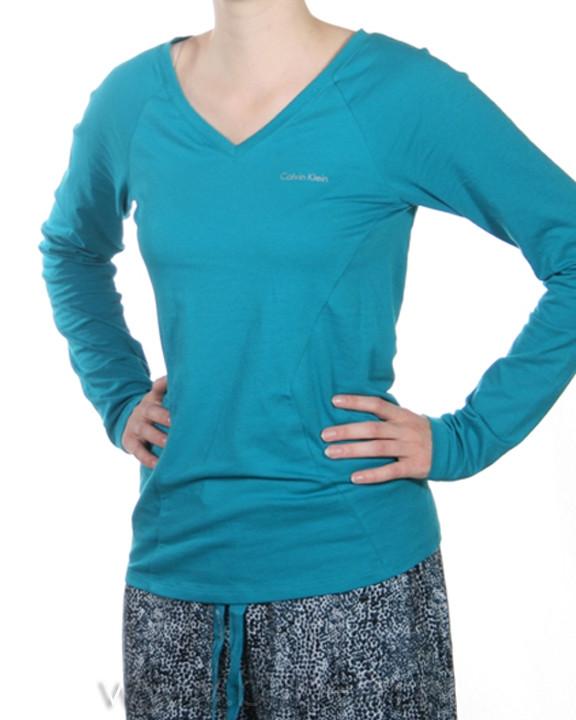 Dámské tričko S5199E - tyrkys - Calvin Klein tyrkys L
