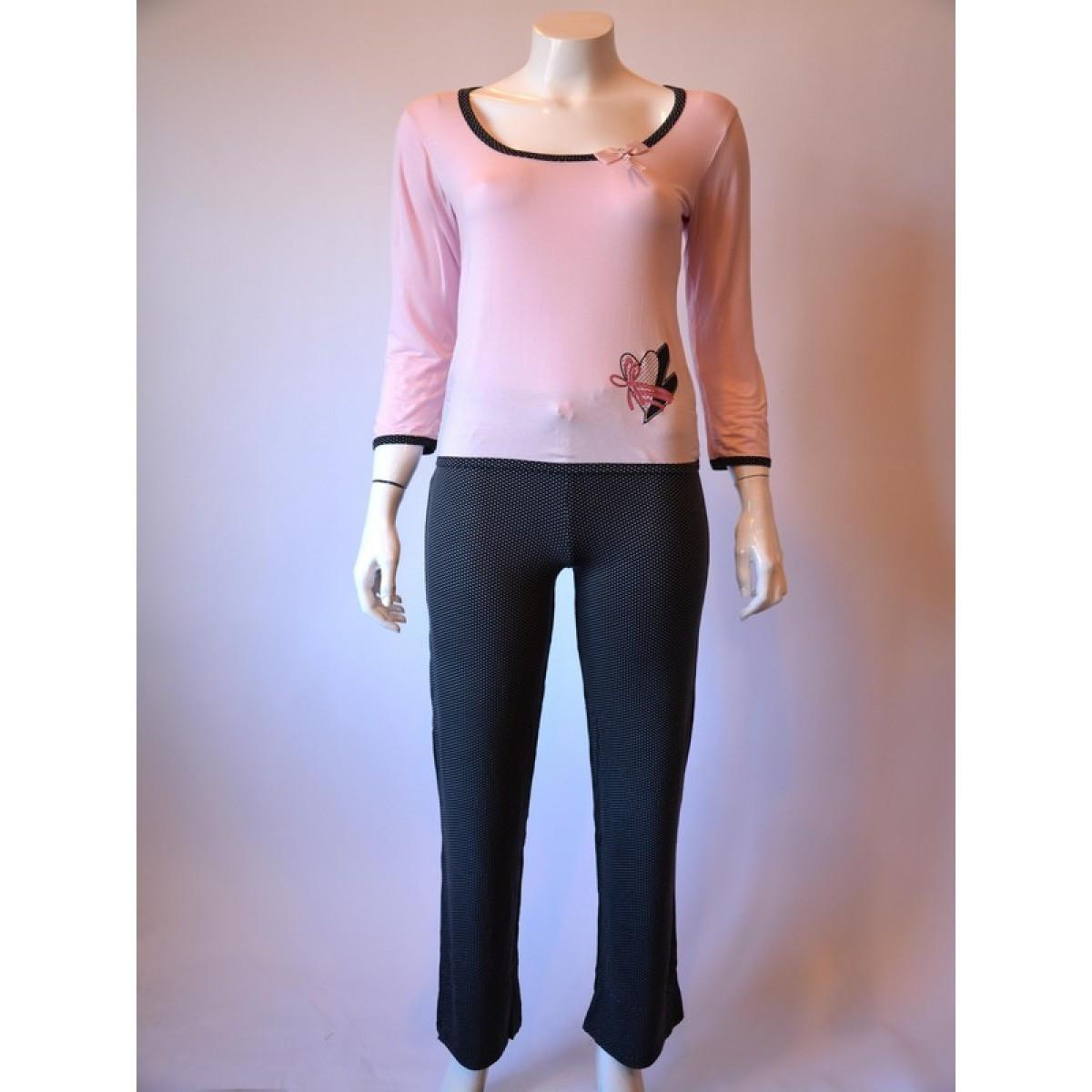Dámské pyžamo 595 YPJ - CoCoon Barva: růžova, Velikost: XL