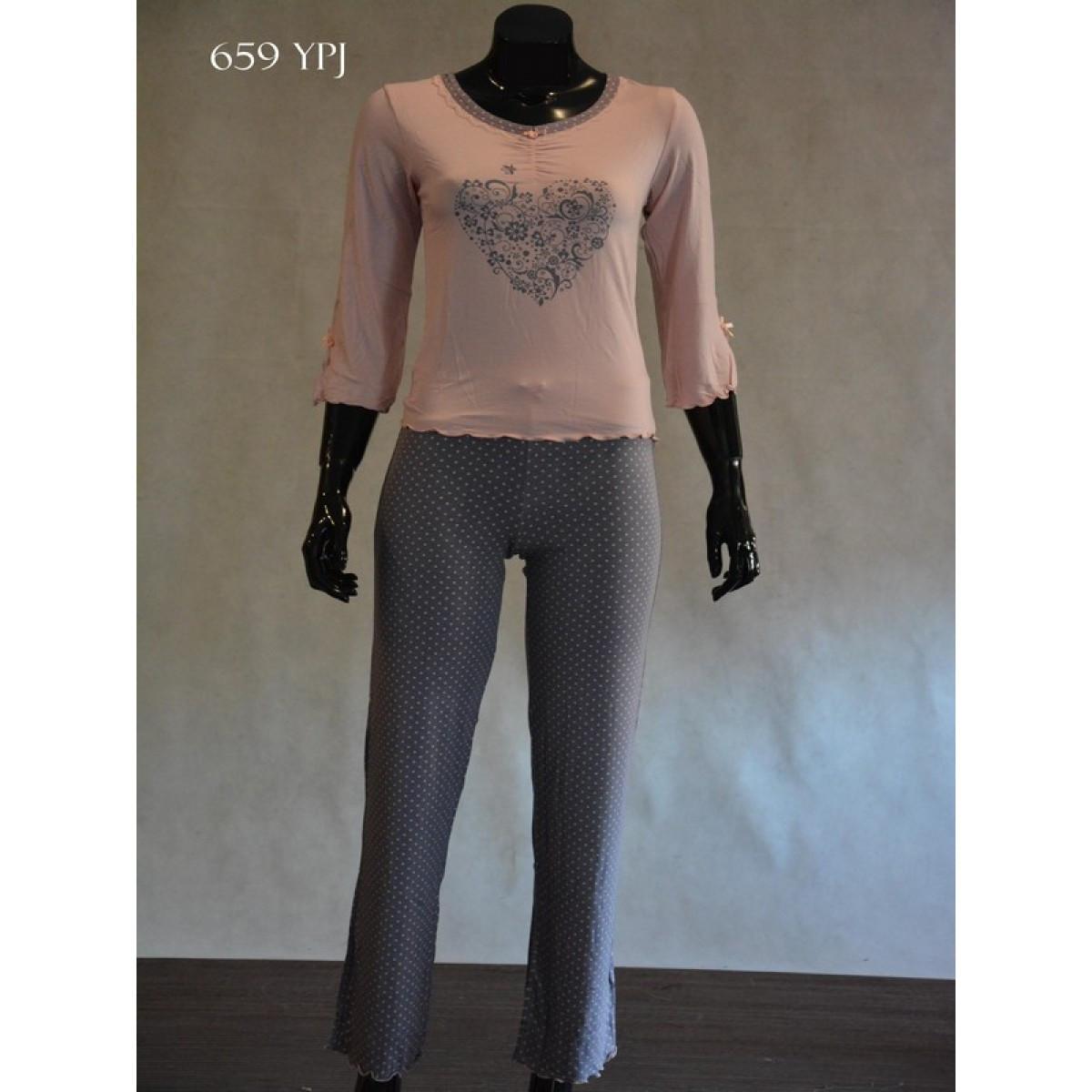 Dámské pyžamo 659 YPJ - CoCoon Barva: lososová, Velikost: L