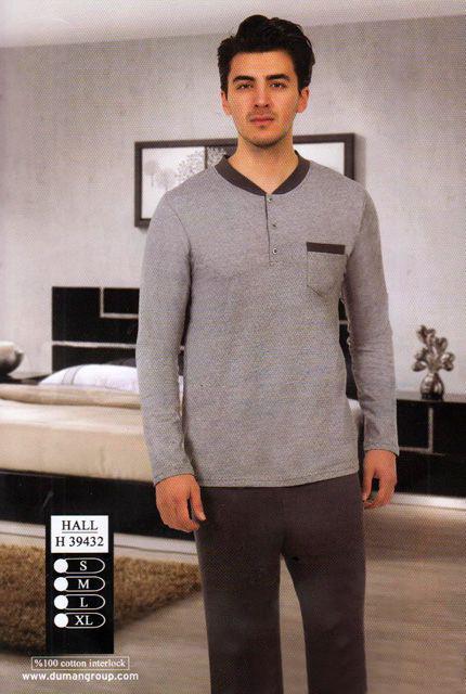 Pánské pyžamo 39432 - Hallmark Barva: antracit, Velikost: M