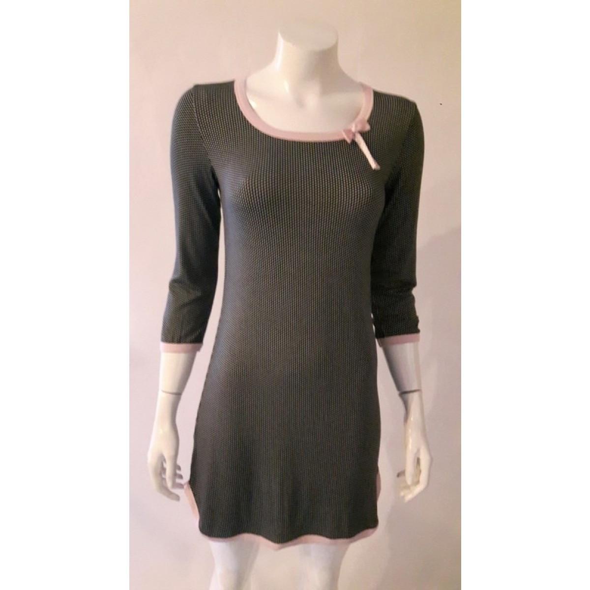 Dámská noční košile 595 YKG - CoCoon Barva: černá-růžová, Velikost: XXL