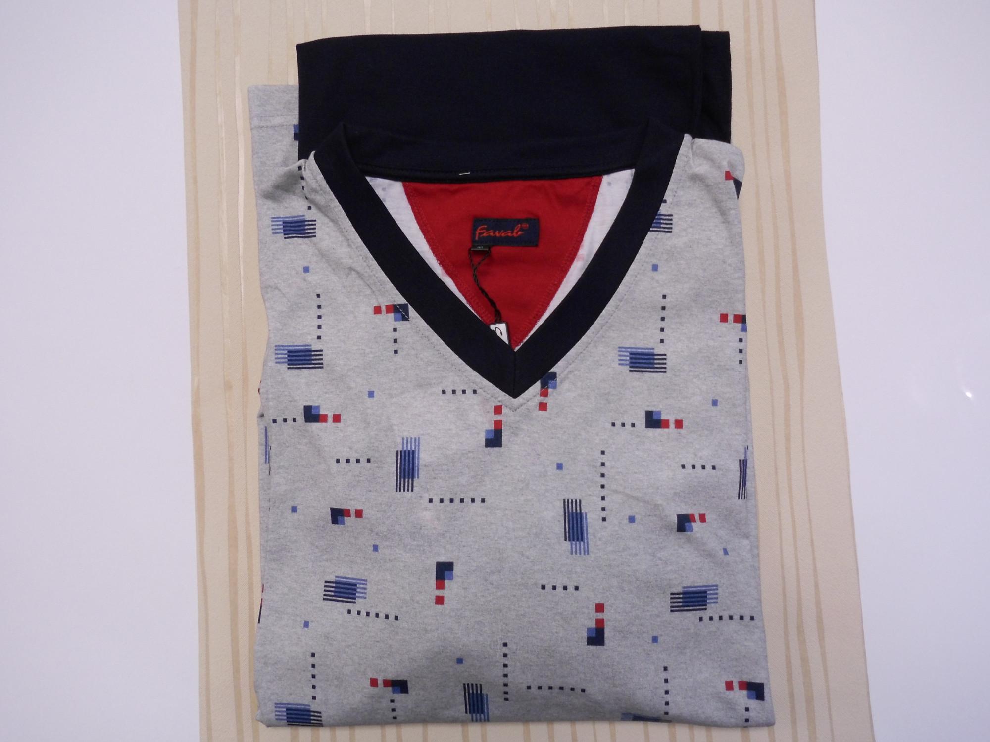 Pánské pyžamo Reson DR V - Favab Barva: šedá, Velikost: M