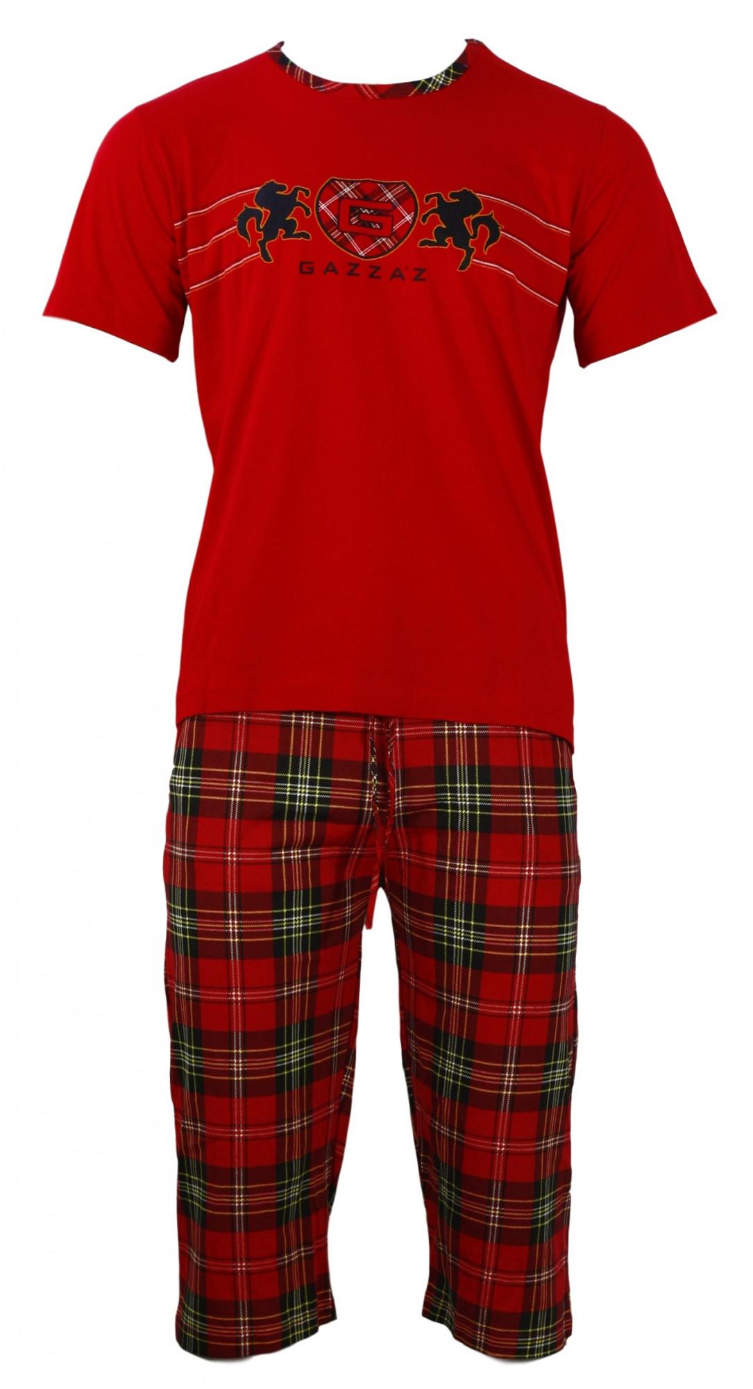Pánské pyžamo - Gazzaz Barva: červená, Velikost: M