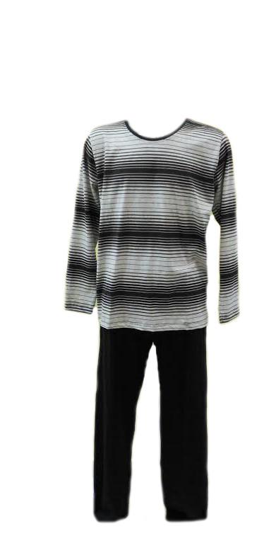 Pánské pyžamo 4567 - Gazzaz Barva: šedá s proužkem, Velikost: XXXL
