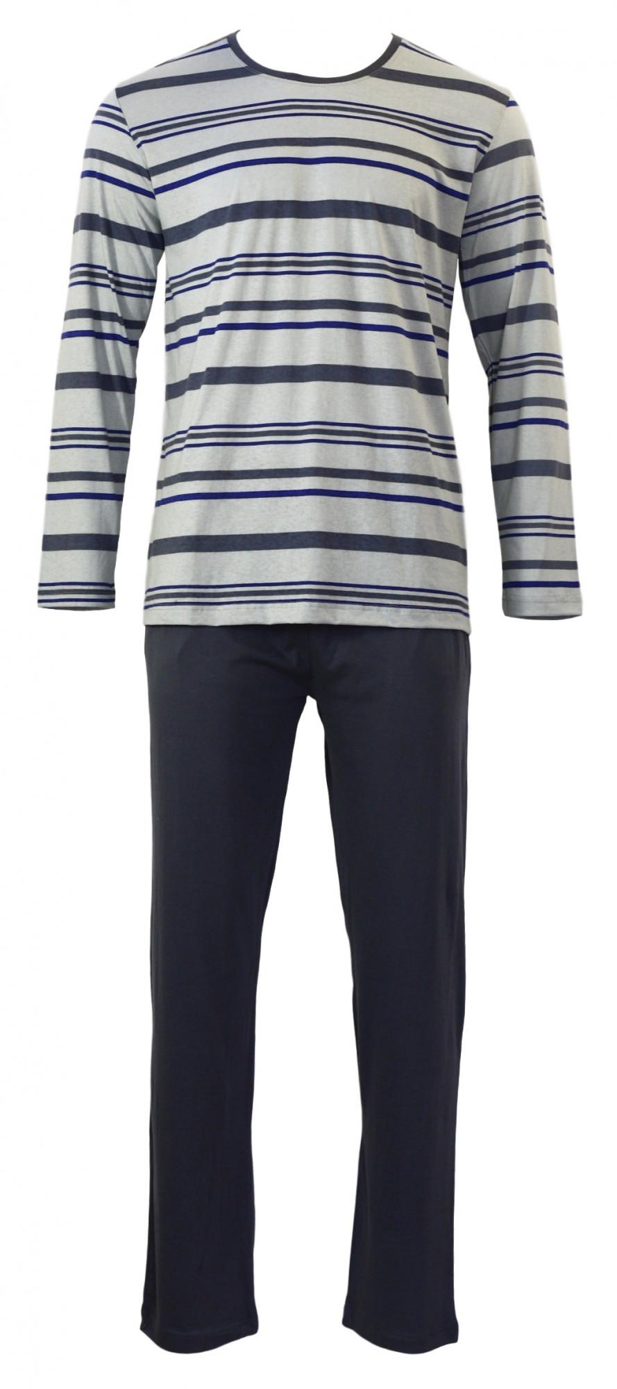 Pánské pyžamo 4497 - Gazzaz Barva: šedo-modrá, Velikost: XL