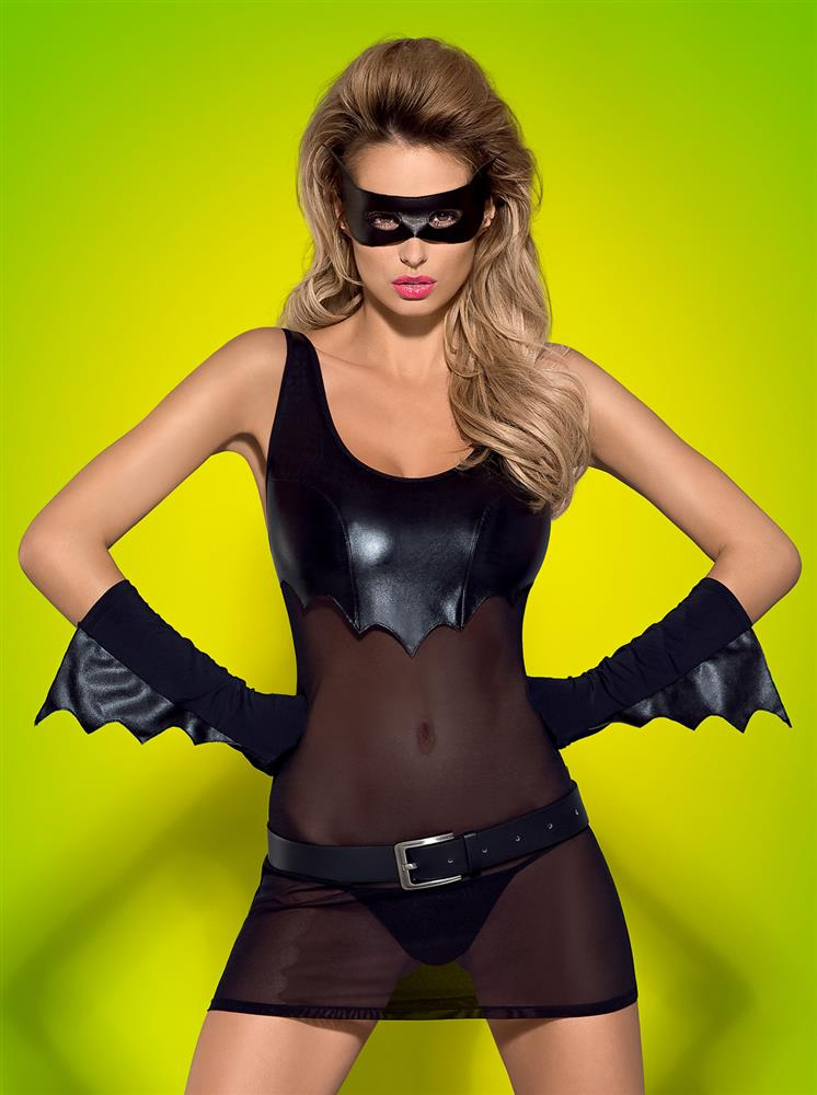 Sexy kostým Batty - Obsessive Barva: černá, Velikost: S/M