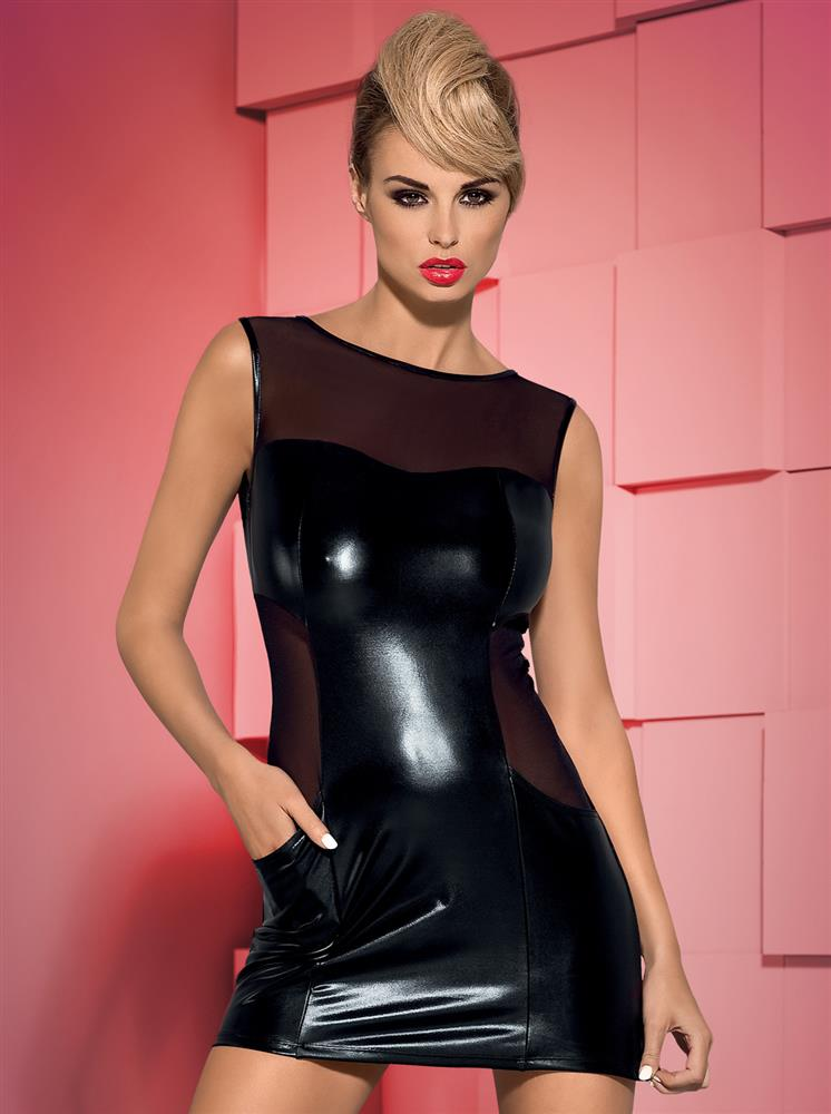 Košilka Wetty - Obsessive Barva: černá, Velikost: L/XL