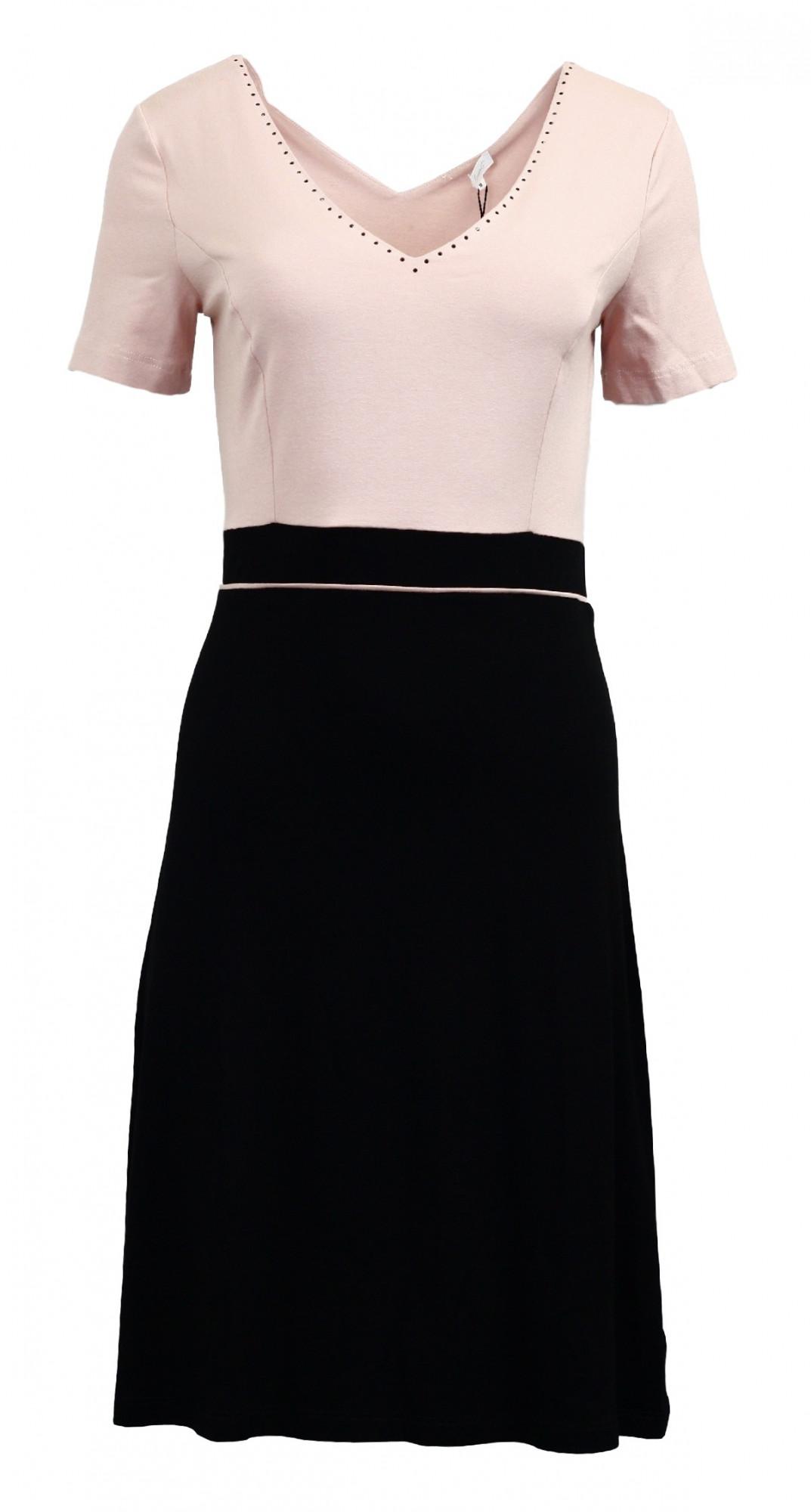 Šaty Chesa kr. - Favab Barva: černo-růžová, Velikost: L