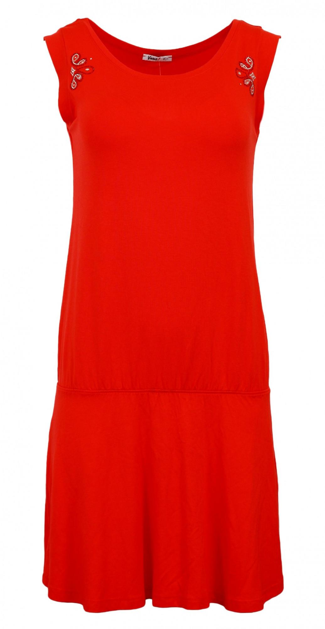 Plážové šaty 4642 - Vamp Barva: oranžová, Velikost: XS