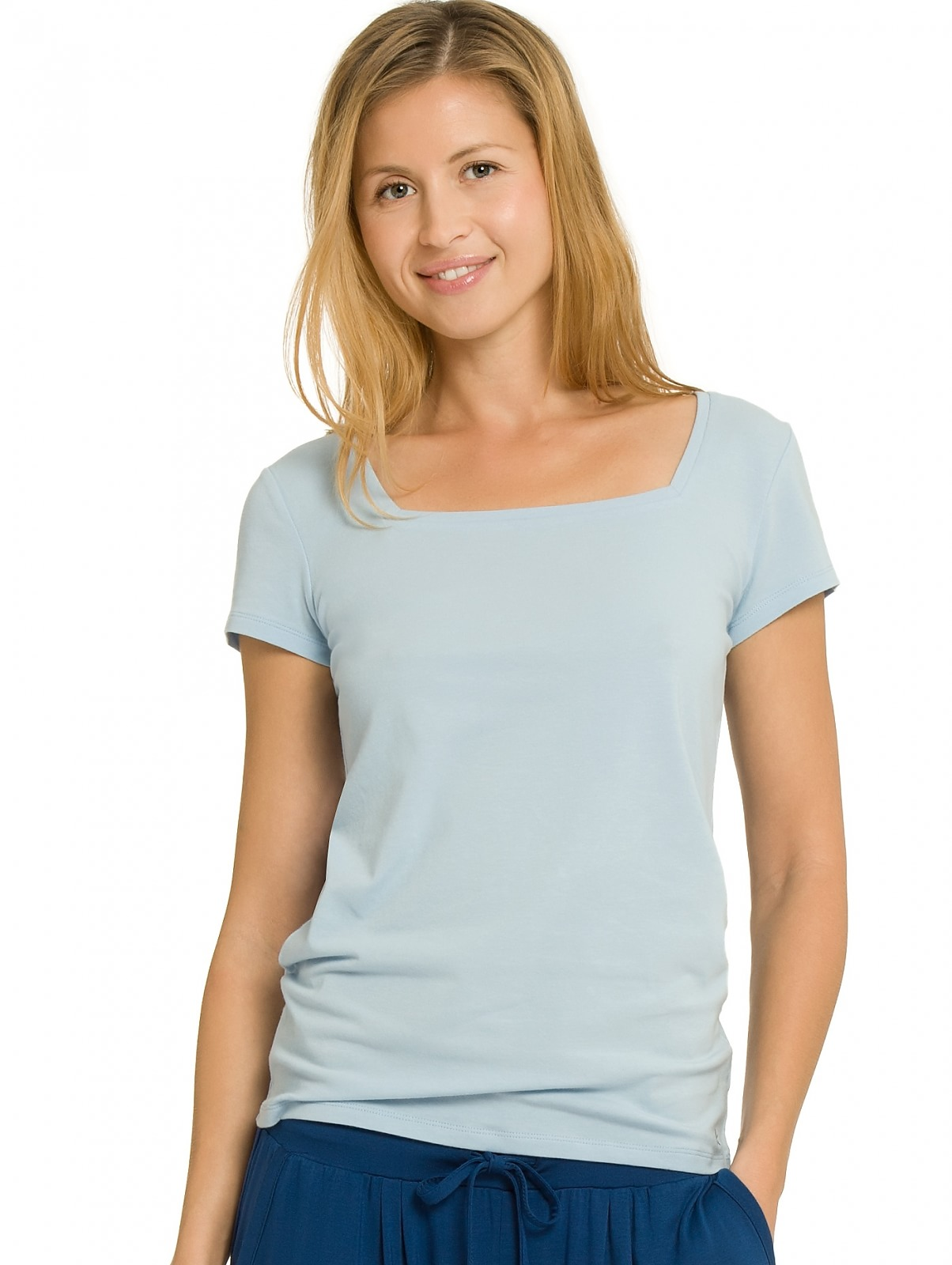 Dámské tričko QS1687E - Calvin Klein sv.modrá M