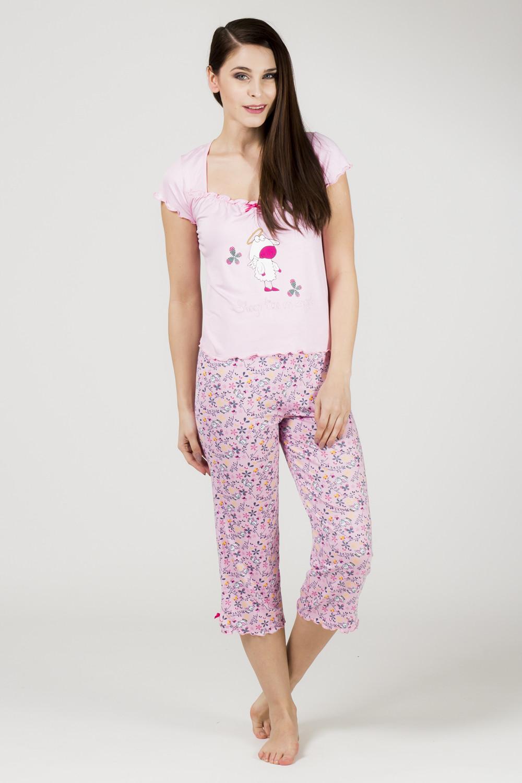 Dámské pyžamo 556 KK - Cocoon Barva: růžová, Velikost: XL