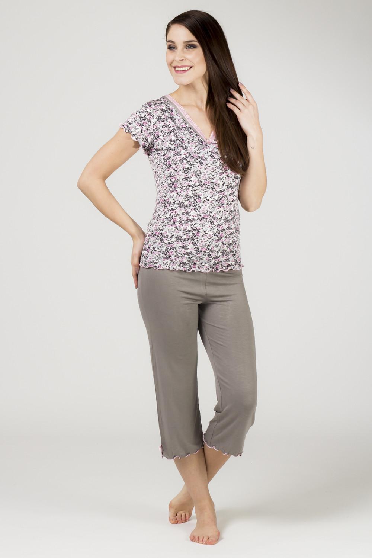 Dámské pyžamo 731 KK - Cocoon Barva: růžovo/černá, Velikost: XL