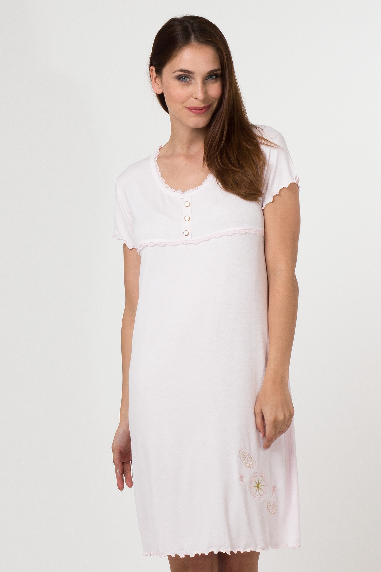 Dámská noční košile 11507 - Sabrina Barva: světle zelená, Velikost: L