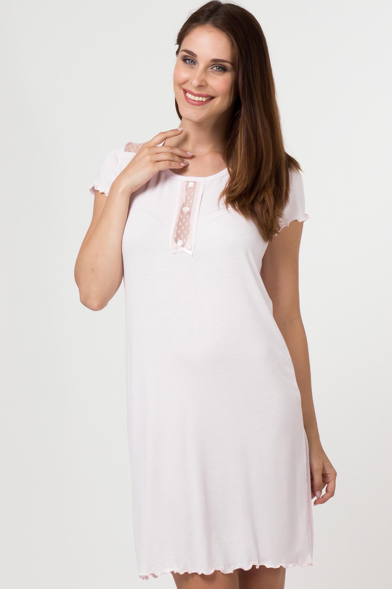 Dámská noční košile 11508 - Sabrina Barva: růžová, Velikost: S