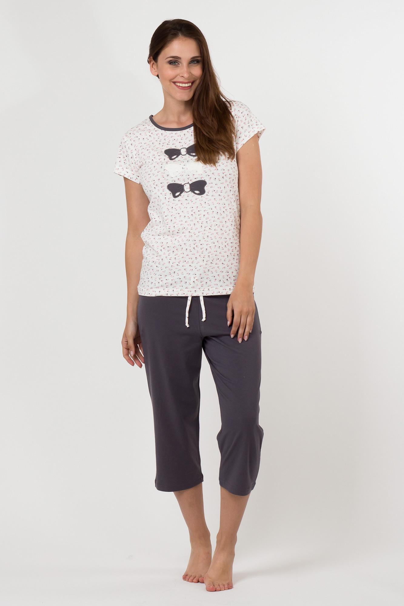 Dámské pyžamo 5013 - Cotton Candy Barva: šedá, Velikost: XL
