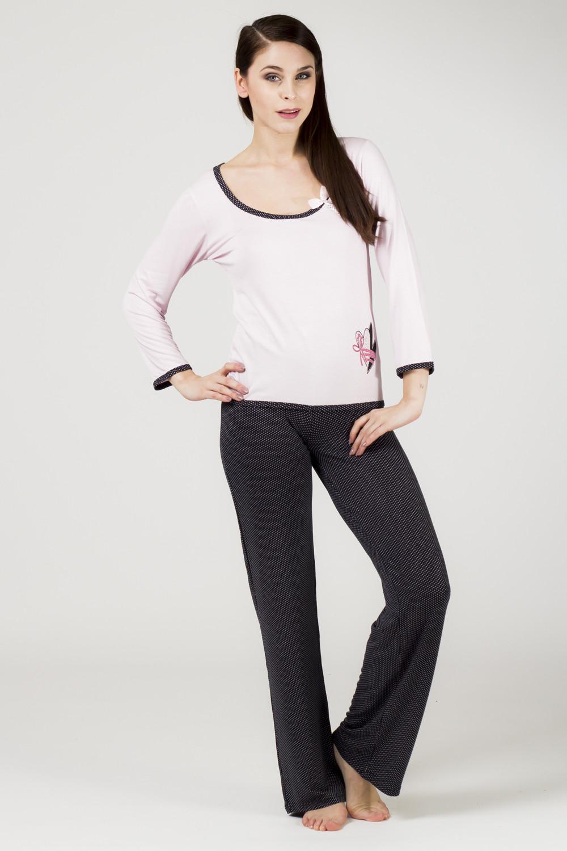 Dámské pyžamo BIG 634 YPJ - CoCoon Barva: růžovo-černá, Velikost: XL