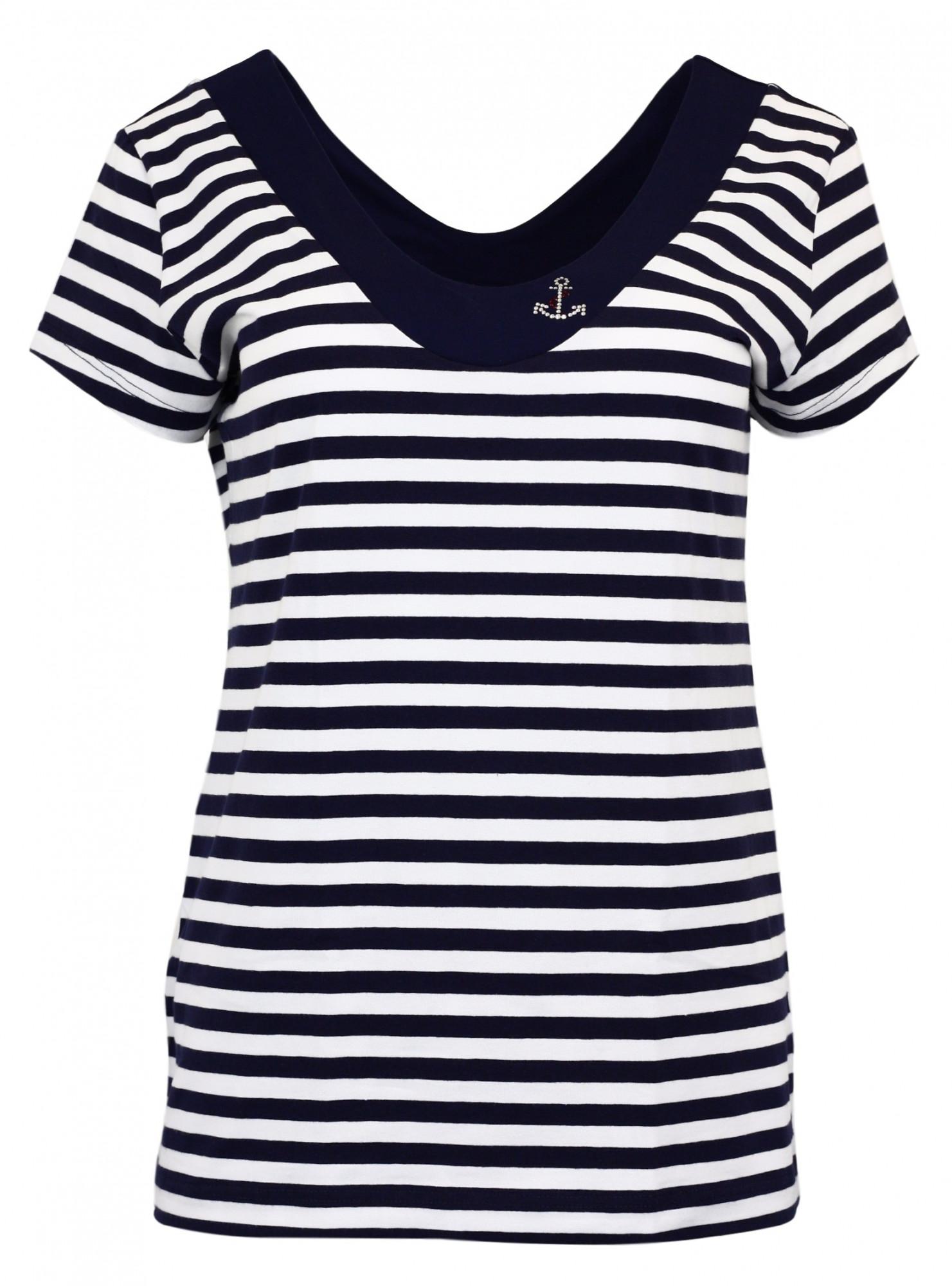 Dámské tričko Průžok Cajana KR SW Kotva - modrobílá - Favab modro-bílá S
