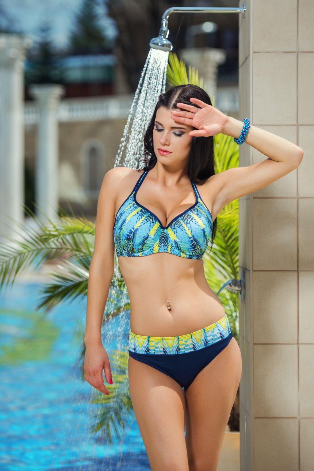 Spodní díl plavek Kristen K11 - Fantasy Barva: zelená, Velikost: XL