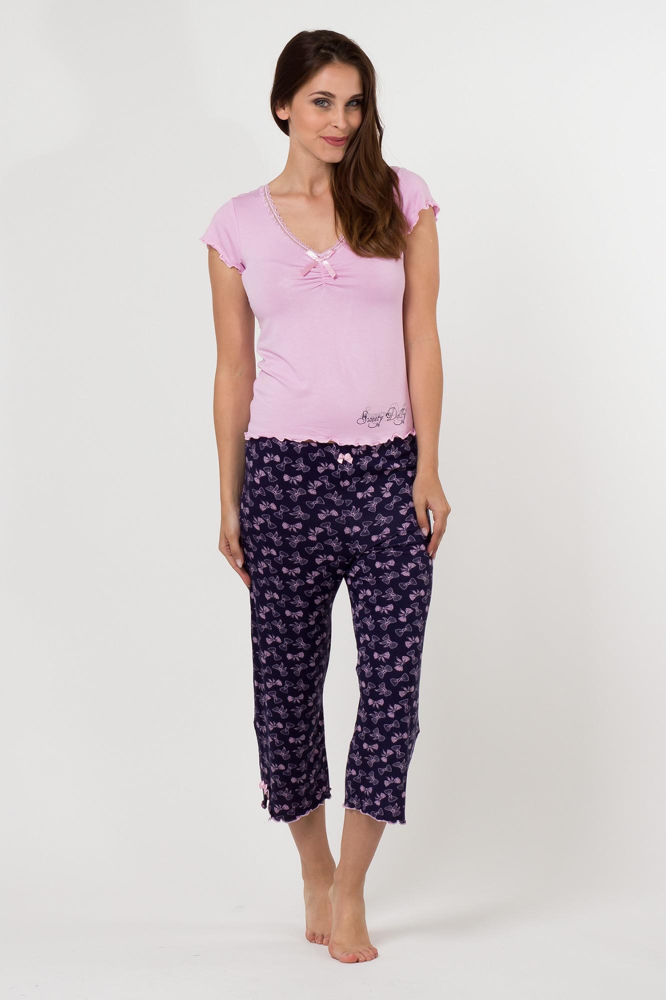 Dámské pyžamo 598 KK Cocoon Secret Barva: růžová - modrá, Velikost: L